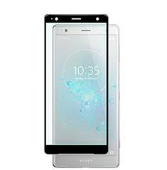 Sony Xperia XZ2用強化ガラス フル液晶保護フィルム F02 ソニー ブラック