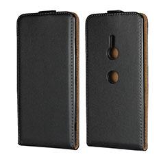 Sony Xperia XZ3用フリップ レザーケース スタンド ソニー ブラック
