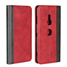 Sony Xperia XZ3用手帳型 レザーケース スタンド カバー L01 ソニー レッド