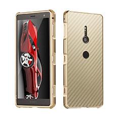 Sony Xperia XZ3用ケース 高級感 手触り良い アルミメタル 製の金属製 カバー ソニー ゴールド