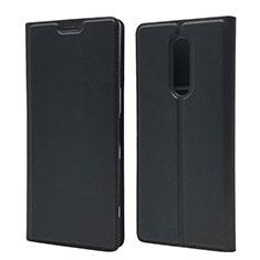 Sony Xperia XZ4用手帳型 レザーケース スタンド カバー L02 ソニー ブラック