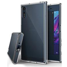 Sony Xperia XZs用極薄ソフトケース シリコンケース 耐衝撃 全面保護 クリア透明 カバー ソニー クリア