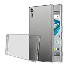 Sony Xperia XZs用極薄ソフトケース シリコンケース 耐衝撃 全面保護 クリア透明 ソニー グレー