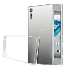 Sony Xperia XZs用極薄ソフトケース シリコンケース 耐衝撃 全面保護 クリア透明 ソニー クリア