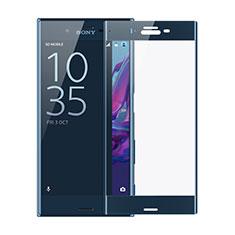 Sony Xperia XZs用強化ガラス フル液晶保護フィルム F02 ソニー ネイビー