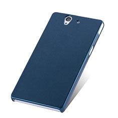 Sony Xperia Z L36h用ハードケース プラスチック 質感もマット ソニー ネイビー