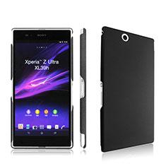 Sony Xperia Z Ultra XL39h用ハードケース プラスチック 質感もマット ソニー ブラック