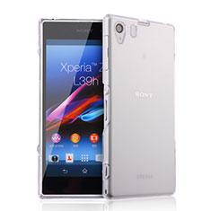 Sony Xperia Z1 L39h用極薄ソフトケース シリコンケース 耐衝撃 全面保護 クリア透明 ソニー クリア