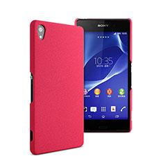 Sony Xperia Z2用ハードケース プラスチック 質感もマット ソニー ローズレッド