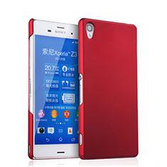 Sony Xperia Z3用ハードケース プラスチック 質感もマット ソニー レッド