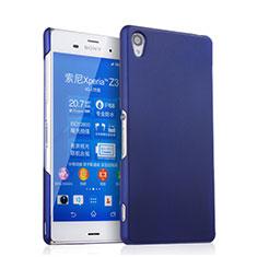 Sony Xperia Z3用ハードケース プラスチック 質感もマット ソニー ネイビー