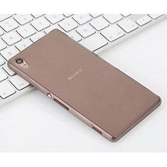 Sony Xperia Z3用シリコンケース ソフトタッチラバー 質感もマット ソニー グレー
