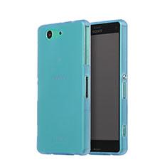 Sony Xperia Z3 Compact用シリコンケース ソフトタッチラバー 質感もマット ソニー ブルー