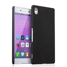 Sony Xperia Z3+ Plus用ハードケース プラスチック 質感もマット ソニー ブラック