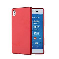 Sony Xperia Z3+ Plus用シリコンケース ソフトタッチラバー ソニー レッド