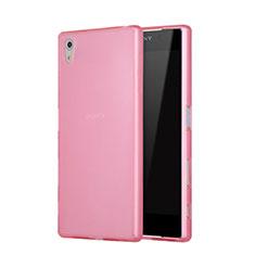 Sony Xperia Z5用シリコンケース ソフトタッチラバー 質感もマット ソニー ピンク