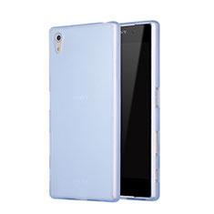Sony Xperia Z5用シリコンケース ソフトタッチラバー 質感もマット ソニー ネイビー