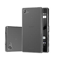 Sony Xperia Z5 Compact用極薄ソフトケース シリコンケース 耐衝撃 全面保護 クリア透明 ソニー グレー
