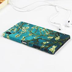 Sony Xperia Z5 Premium用ハードケース プラスチック 花々 ソニー グリーン