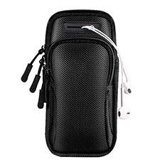 Samsung Galaxy A51 4G用アームバンド カバーランニング スポーツケース ユニバーサル A01 ブラック