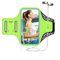 Samsung Galaxy A51 4G用アームバンド カバーランニング スポーツケース ユニバーサル G02 グリーン