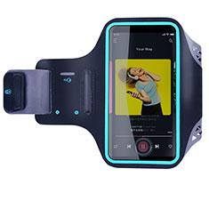 Samsung Galaxy S20 Plus 5G用アームバンド カバーランニング スポーツケース ユニバーサル G03 ブラック