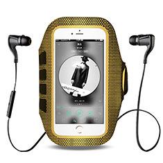 HTC One Max用アームバンド カバーランニング スポーツケース ユニバーサル B17 イエロー