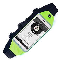 Asus Zenfone Zoom ZX551ML用ベルトポーチ カバーランニング スポーツケース ユニバーサル グリーン