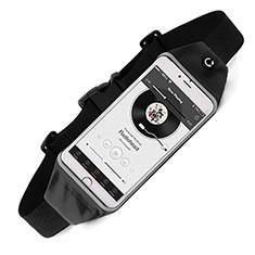 Motorola Moto G4 Plus用ベルトポーチ カバーランニング スポーツケース ユニバーサル ブラック