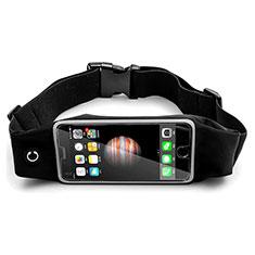 Samsung Galaxy Note 10 5G用ベルトポーチ カバーランニング スポーツケース ユニバーサル B30 ブラック