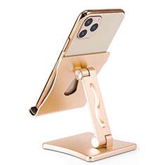 Huawei Rhone用スマートフォンスタンド ホルダー ユニバーサル K32 ゴールド