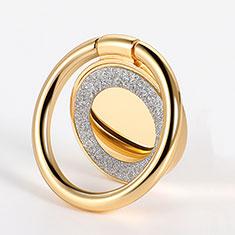 スタンドタイプのスマートフォン ホルダー マグネット式 ユニバーサル バンカーリング 指輪型 Z15 ゴールド
