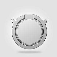 Sony Xperia Z5 Premium用スタンドタイプのスマートフォン ホルダー マグネット式 ユニバーサル バンカーリング 指輪型 Z20 シルバー