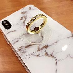 スタンドタイプのスマートフォン ホルダー ユニバーサル バンカーリング 指輪型 S15 ゴールド