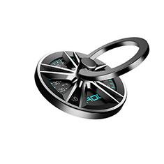 スタンドタイプのスマートフォン ホルダー ユニバーサル バンカーリング 指輪型 S18 ブラック