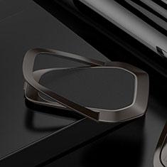 Huawei Nova 3e用スタンドタイプのスマートフォン ホルダー マグネット式 ユニバーサル バンカーリング 指輪型 S21 ブラック