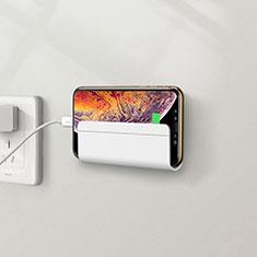 Huawei Nova 3e用スタンドタイプのスマートフォン ホルダー ユニバーサル H04 ホワイト