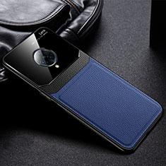 Vivo Nex 3用シリコンケース ソフトタッチラバー レザー柄 カバー S02 Vivo ネイビー