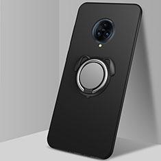 Vivo Nex 3用極薄ソフトケース シリコンケース 耐衝撃 全面保護 アンド指輪 マグネット式 バンパー A03 Vivo ブラック