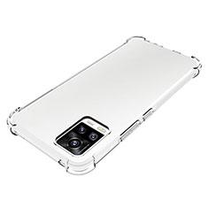 Vivo V20用極薄ソフトケース シリコンケース 耐衝撃 全面保護 クリア透明 カバー Vivo クリア