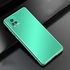 Vivo V20 Pro 5G用ケース 高級感 手触り良い アルミメタル 製の金属製 カバー Vivo グリーン