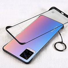 Vivo V20 Pro 5G用ハードカバー クリスタル クリア透明 H01 Vivo ブラック