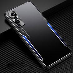 Vivo X50 5G用ケース 高級感 手触り良い アルミメタル 製の金属製 カバー M02 Vivo ネイビー・ブラック