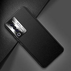Vivo X50 5G用ケース 高級感 手触り良いレザー柄 Vivo ブラック