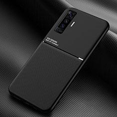 Vivo X50 5G用360度 フルカバー極薄ソフトケース シリコンケース 耐衝撃 全面保護 バンパー S01 Vivo ブラック