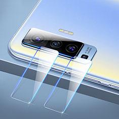 Vivo X50 5G用強化ガラス カメラプロテクター カメラレンズ 保護ガラスフイルム C01 Vivo クリア