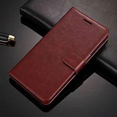 Vivo X50 Lite用手帳型 レザーケース スタンド カバー L01 Vivo ブラウン