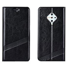 Vivo X50 Lite用手帳型 レザーケース スタンド カバー L06 Vivo ブラック