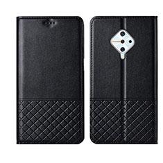 Vivo X50 Lite用手帳型 レザーケース スタンド カバー L07 Vivo ブラック