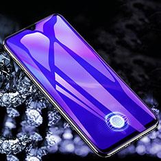Vivo X50 Lite用強化ガラス フル液晶保護フィルム アンチグレア ブルーライト F02 Vivo ブラック